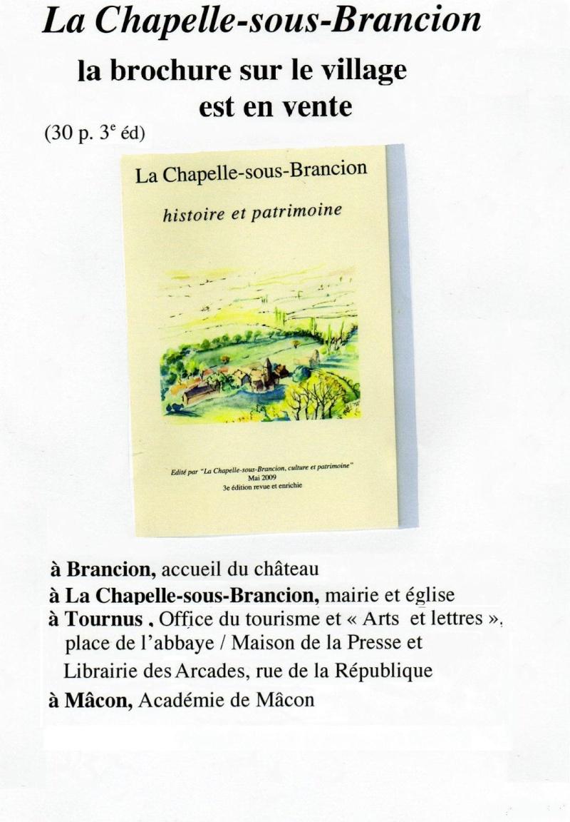Présentation de la Chapelle sous Brancion, Culture et Patrimoine Affich12