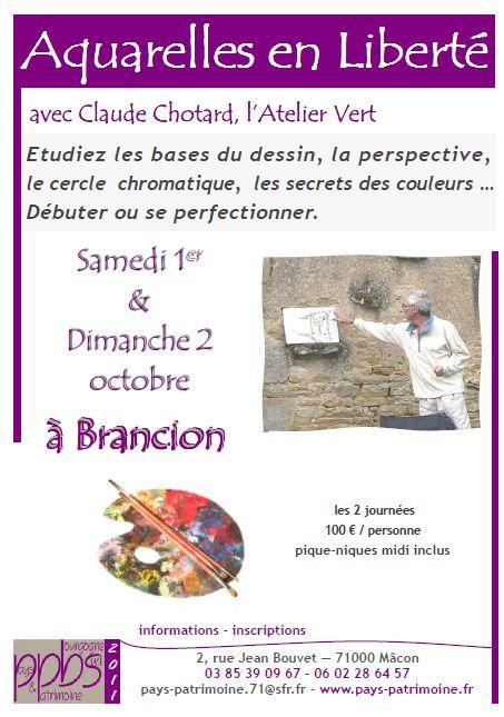 Aquarelles en liberté à Brancion les 1 et 2 octobre Aquare10