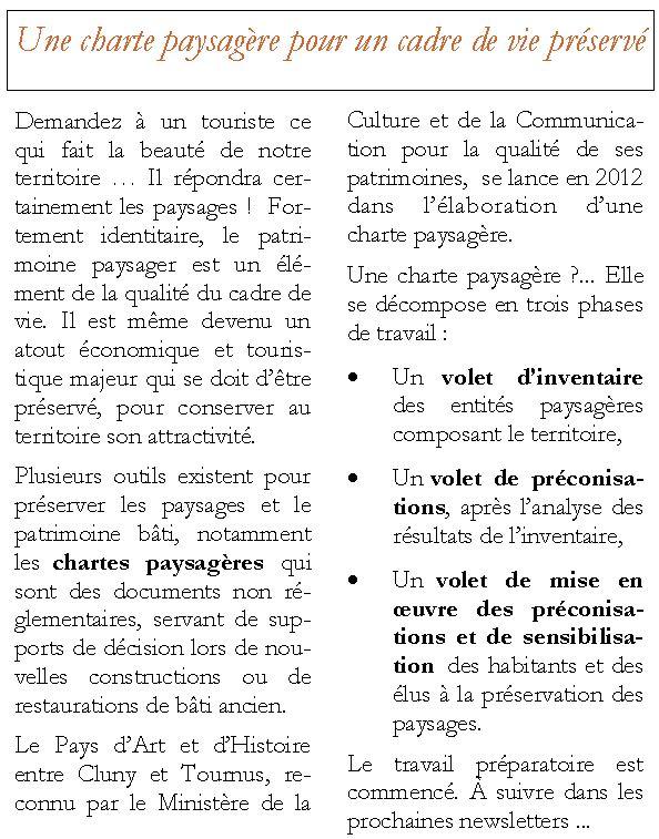 PAH Newsletter N°5 Charte Paysagère Charte10