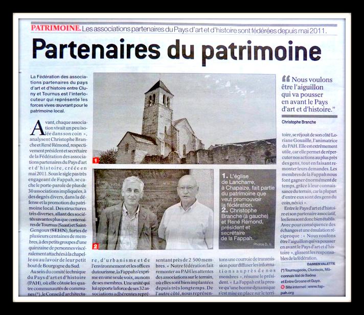 Article du Journal de Saône-et-Loire paru le 20 juillet 2012 Playbo10