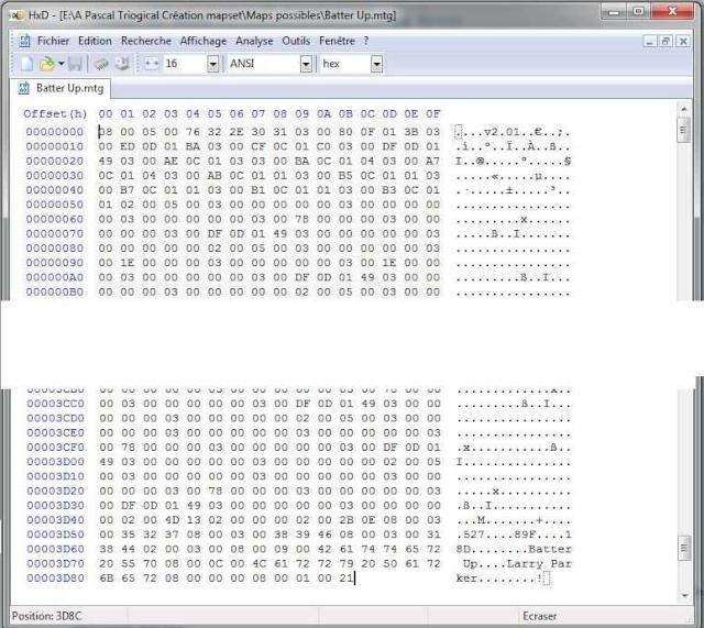 Vérification hexadécimale d'un tableau Batter10