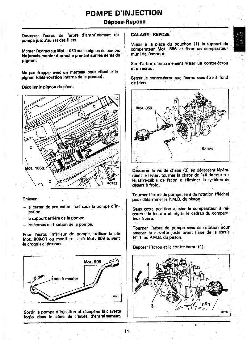 Tarif d'un calage d'avance de pompe injection Diesel - Page 2 Page1110