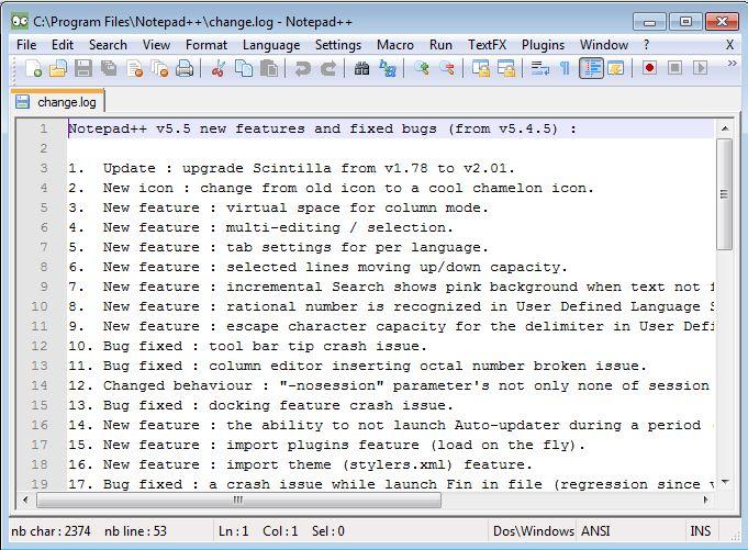 Note Pad ++  for windows Captur11