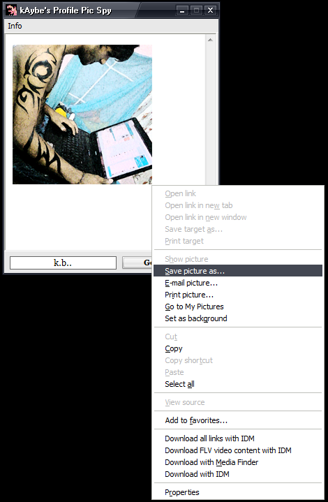 kAybe's mig33 Profile Picture Viewer Pro110
