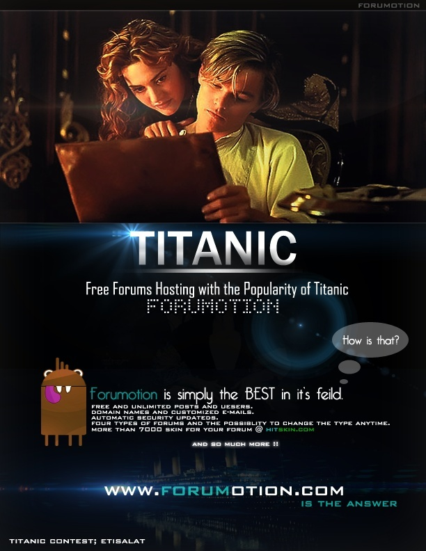 Welcome aboard for the 3D Titanic contest !  Etisal10