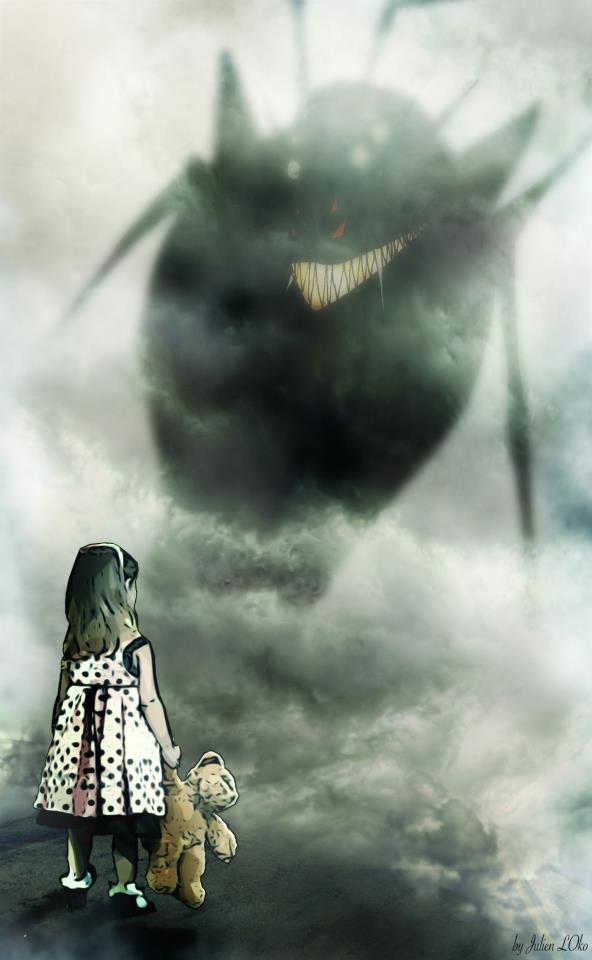 """""""Automne, la petite fille face à une ombre."""" 29232810"""