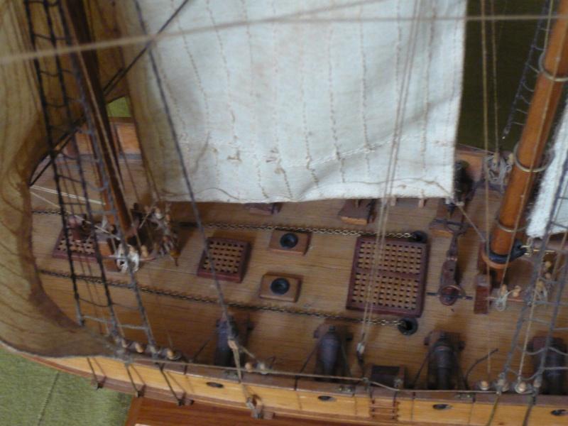 LA TOULONNAISE, goelette de 1823 au 1/75° & maquette MUSEE MARINE (auto BCE n° 36/2015) P1030327