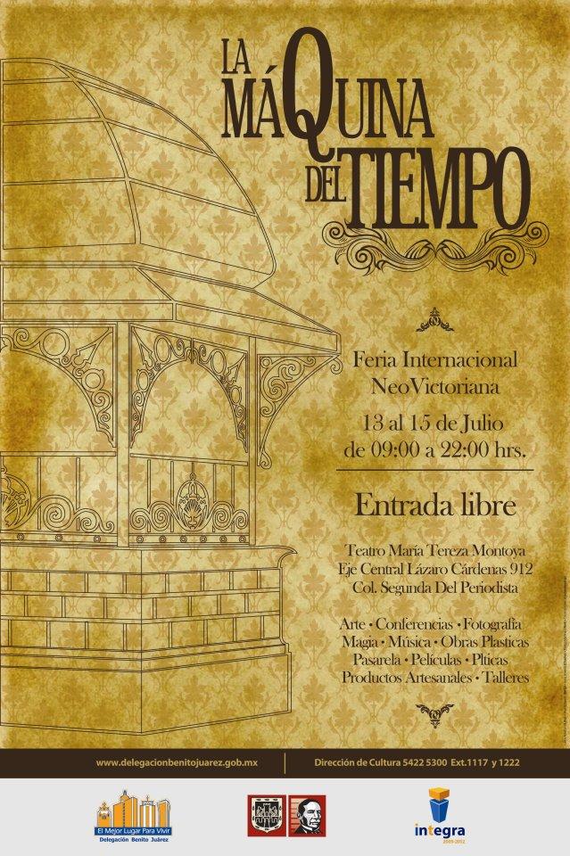 """Dossier de la Primera Edición de la Feria Internacional Noevictoriana """"La Máquina del Tiempo"""" (13-15 de JULIO DE 2012) Cartel16"""