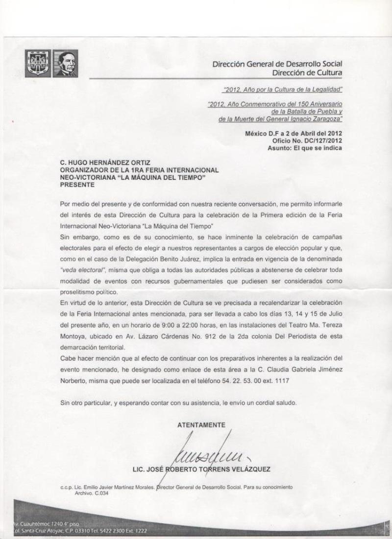 """Feria Internacional Neo-Victoriana """"La Maquina del Tiempo"""" Escane11"""