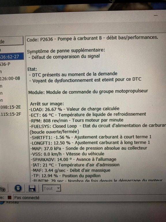 Code erreur P2636 : Pompe à Carburant Code_e10