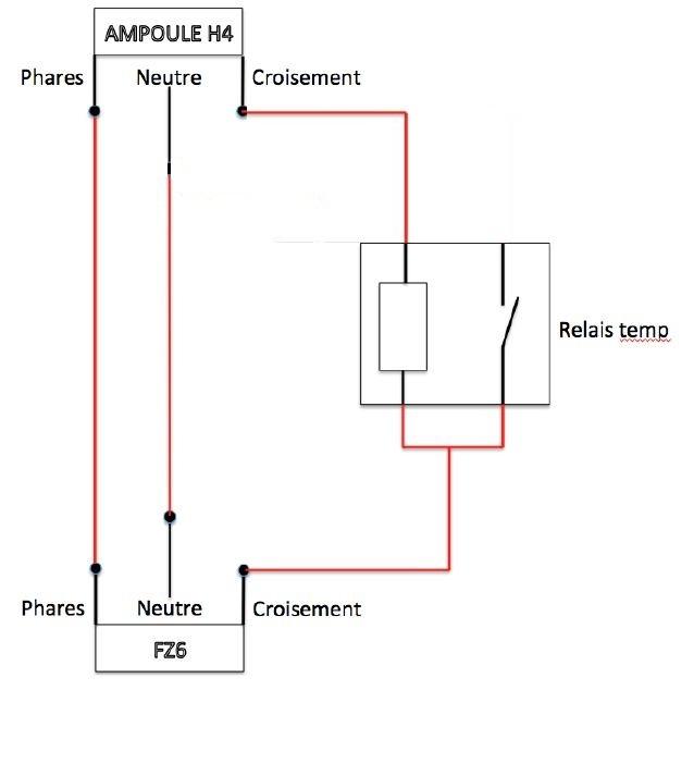 {Electricité}-Montage Bixenon avec un relais temporisé Sans_t11