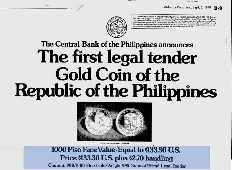 1975 1000 piso marcos coin A_197512