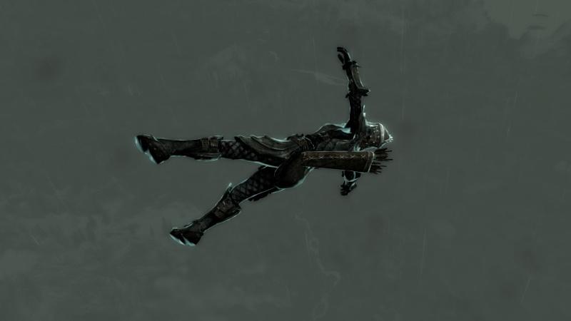 Skyrim Characters Flying10