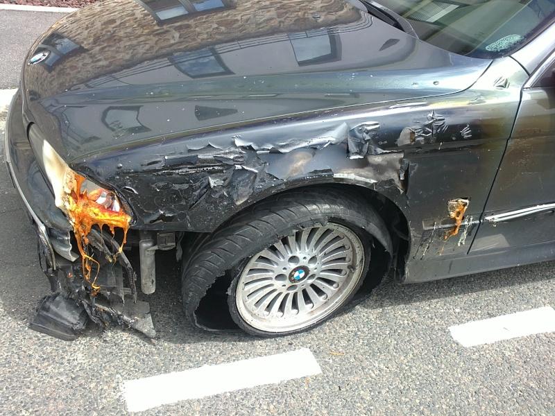 [BMW E39] Fondue par un incendie 15062011