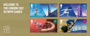 Timbres Officiels (Royaume-Uni) Jeux Olympiques de Londres 2012 - Emission de 4 timbres pour l'ouverture des Jeux Olympiques Royal-11