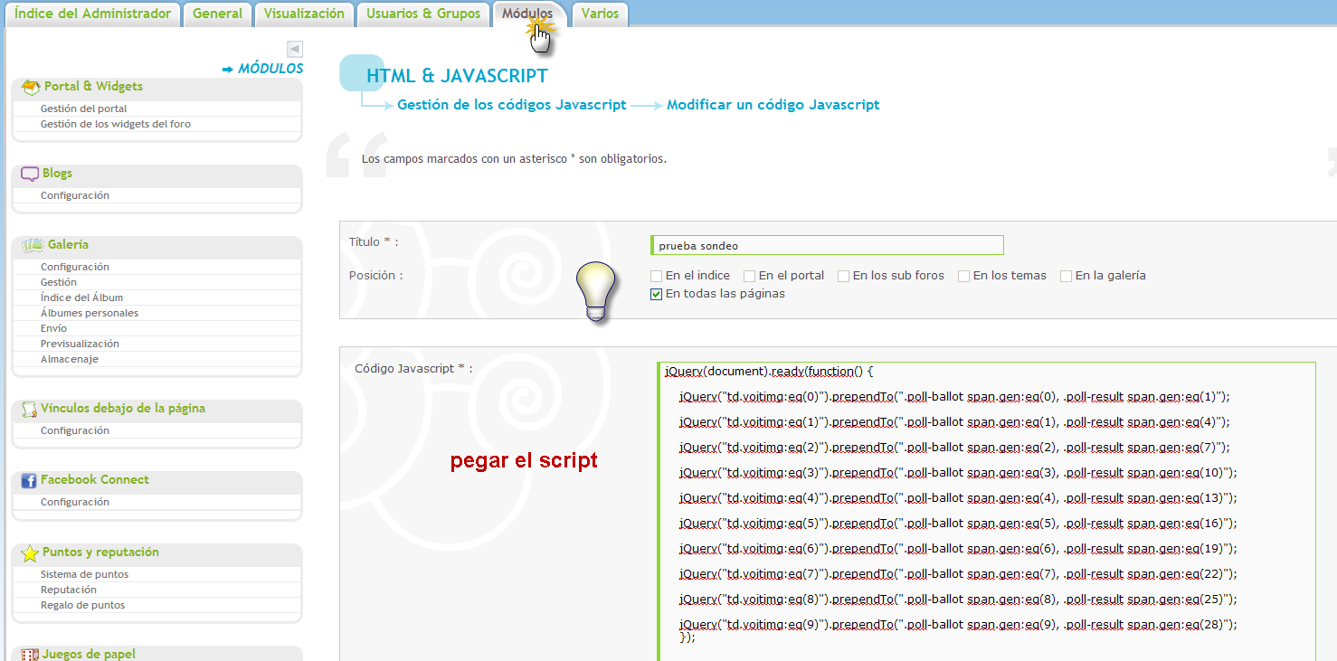 Creación de Encuestas Java210