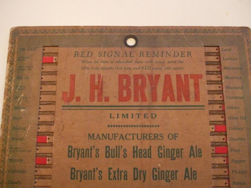 Liste d'épicerie Bryant 1930 Dscf1110