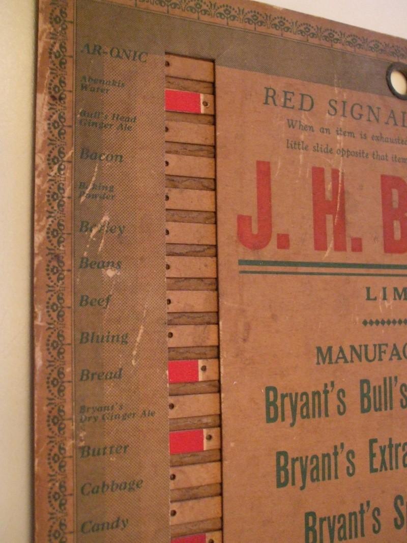 Liste d'épicerie Bryant 1930 Dscf1111