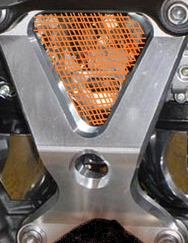 Fixation d'une grille sur support moteur Suppor10