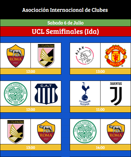 [AICv21] Horarios Semifinales IDA & VUELTA UCL/UEL & Final Copa AIC [AICv21] Horari44