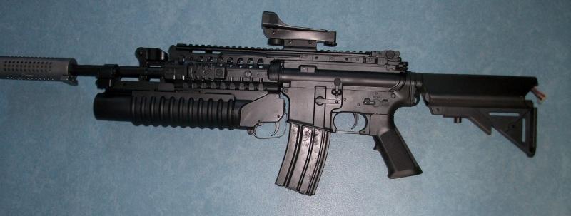 CLASSIC ARMY M4A1 SIR full metal custom NOIR MATE Imgp0810