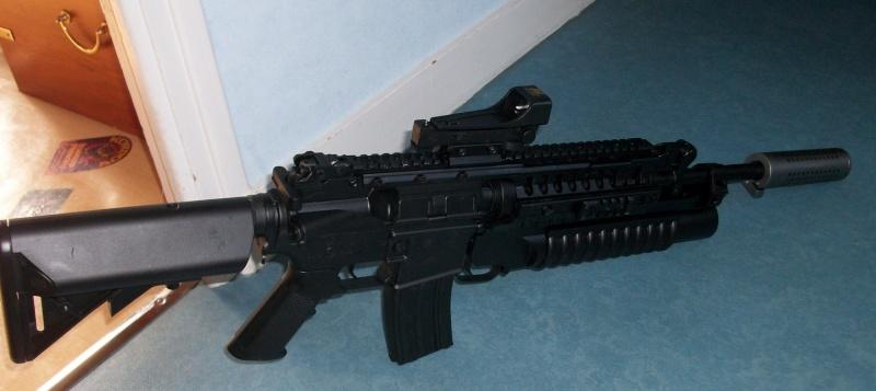 CLASSIC ARMY M4A1 SIR full metal custom NOIR MATE Imgp0811
