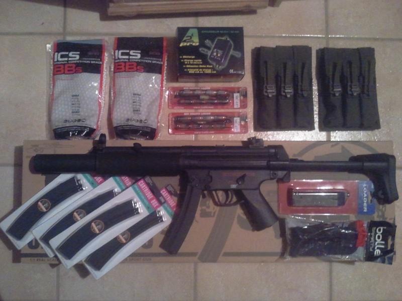 Vends MP5 full metal CYMA cm049 SD6 et accessoires  2011-110
