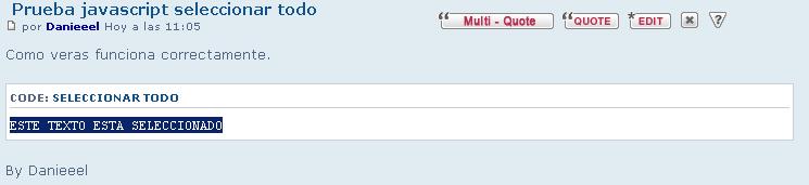 Al clickear seleccionar todo no me selecciona y se me va hacia arriba el foro. Javscr10