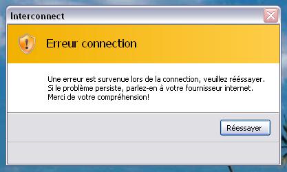 Interconnect Erreur10
