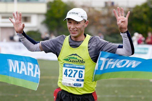 Uli won the Seattle marathon again... Uli10