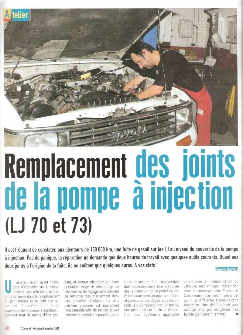 [Résolu] Article Magazine TLC sur changement de joints de PI sur LJ70 Numari10