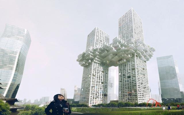أبراج كورية تشبه أبراج نيويورك عند تفجيرها  27372710