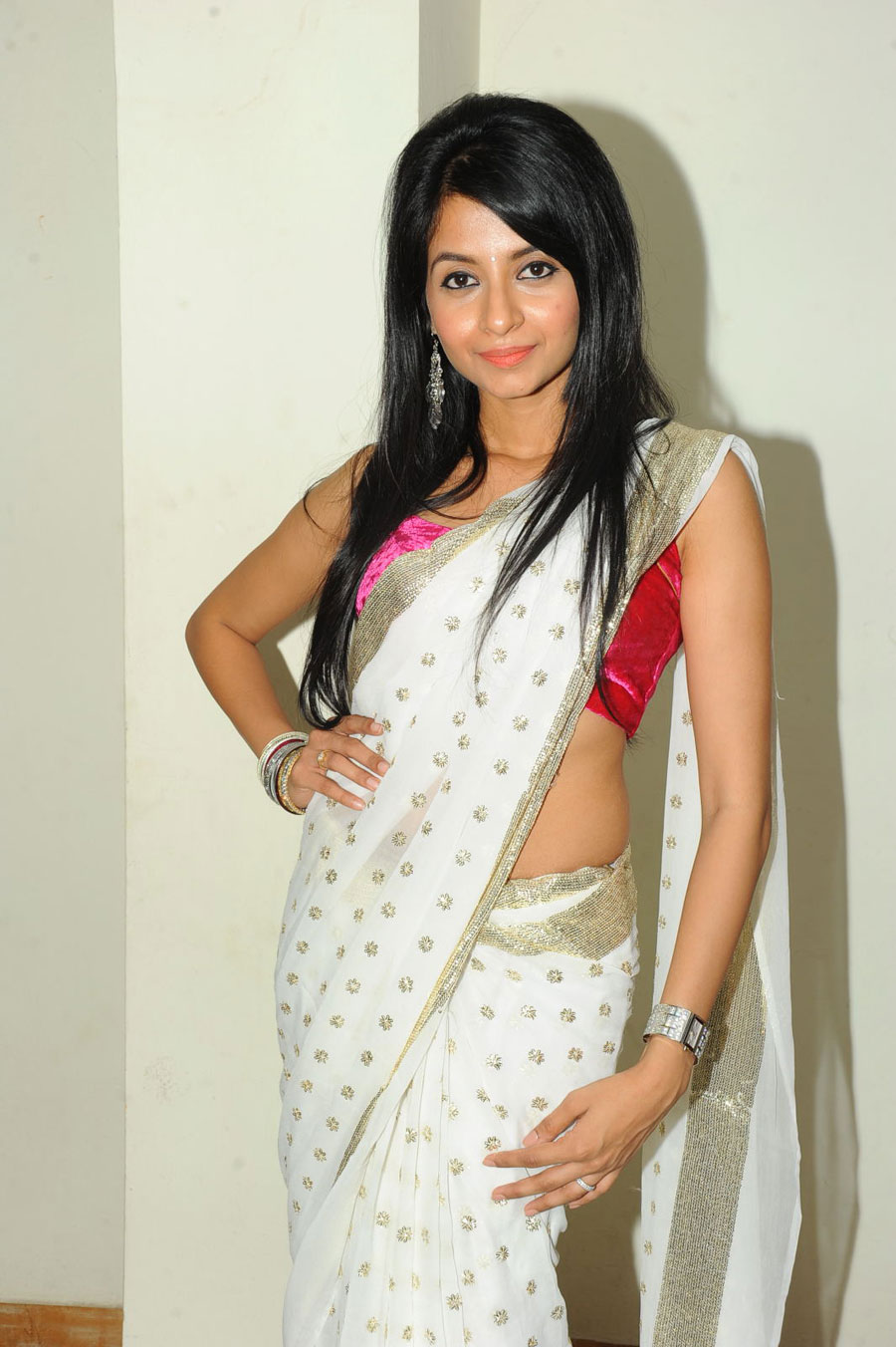 New Face Amrutha in Saree Photo Gallery Amruth15