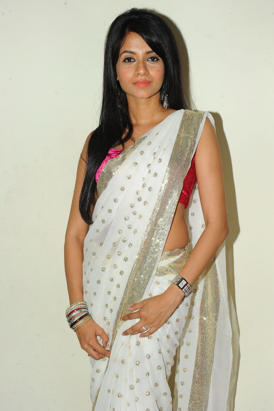 New Face Amrutha in Saree Photo Gallery Amruth17
