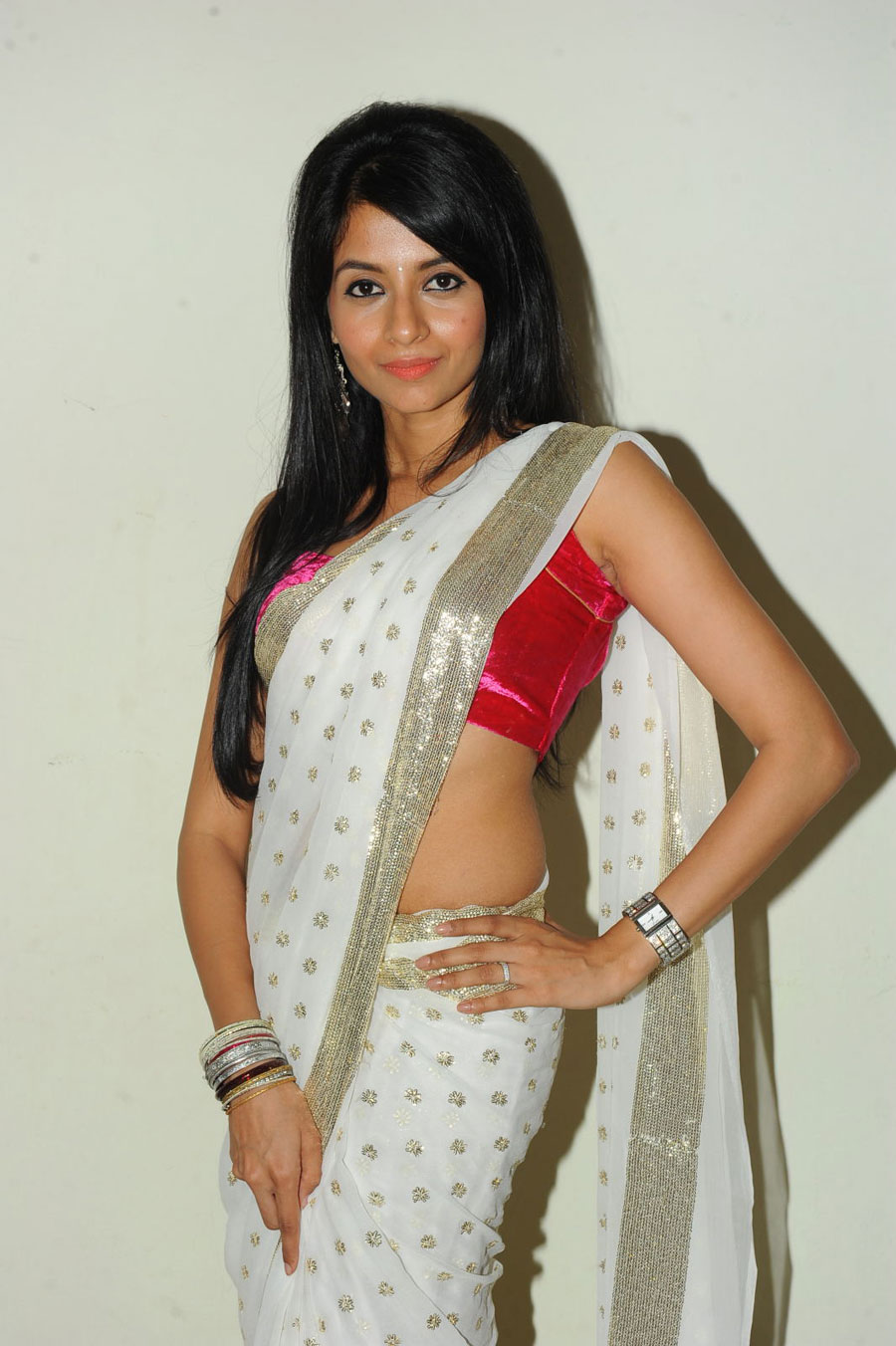 New Face Amrutha in Saree Photo Gallery Amruth20