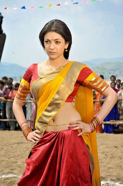 காஜல் அகர்வால் [ Kajal Agarwal in Half Saree Spicy Photo Gallery ] Hot_ka10