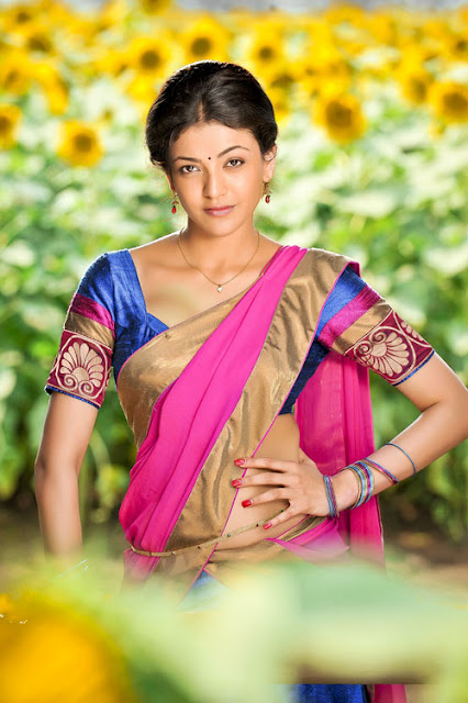 காஜல் அகர்வால் [ Kajal Agarwal in Half Saree Spicy Photo Gallery ] Hot_ka12