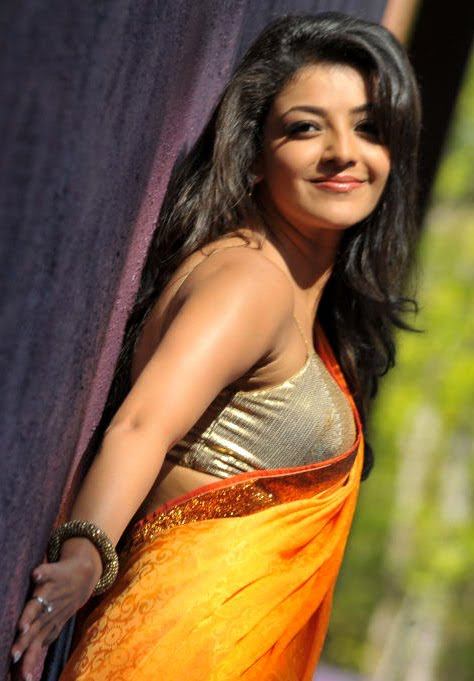 காஜல் அகர்வால் [ Kajal Agarwal in Saree Spicy Photo Gallery ] Kajal-33
