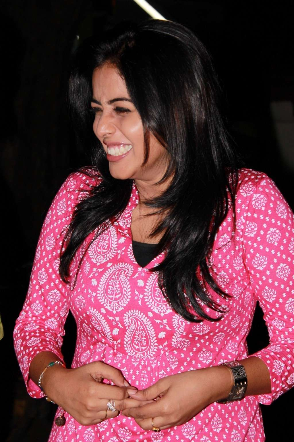 Poorna Bright in Pink Top Poorna16