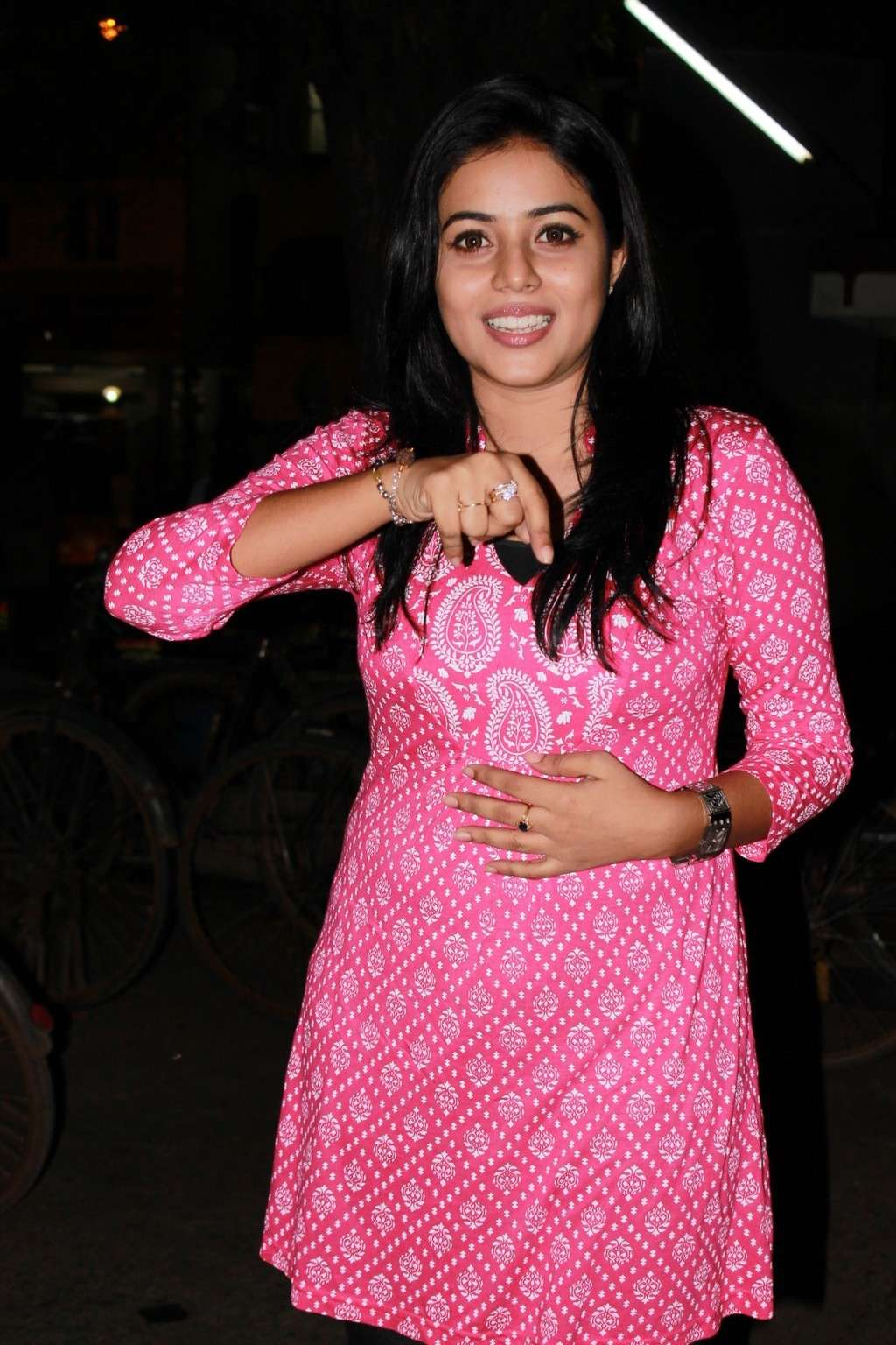 Poorna Bright in Pink Top Poorna21