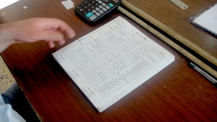 معلمي المبرة يضعون النتائج للتلاميذ 714