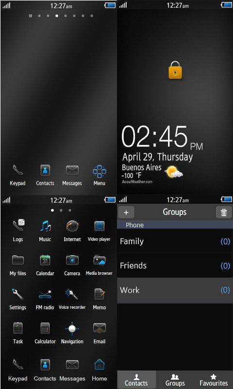 Thème BlackBerry on Wave ... Mosaiq10