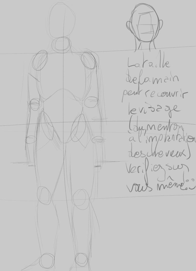 [How to?] Dessiner le corps humain : proportions et conseils de mise en place[by Dexteria] Corps710