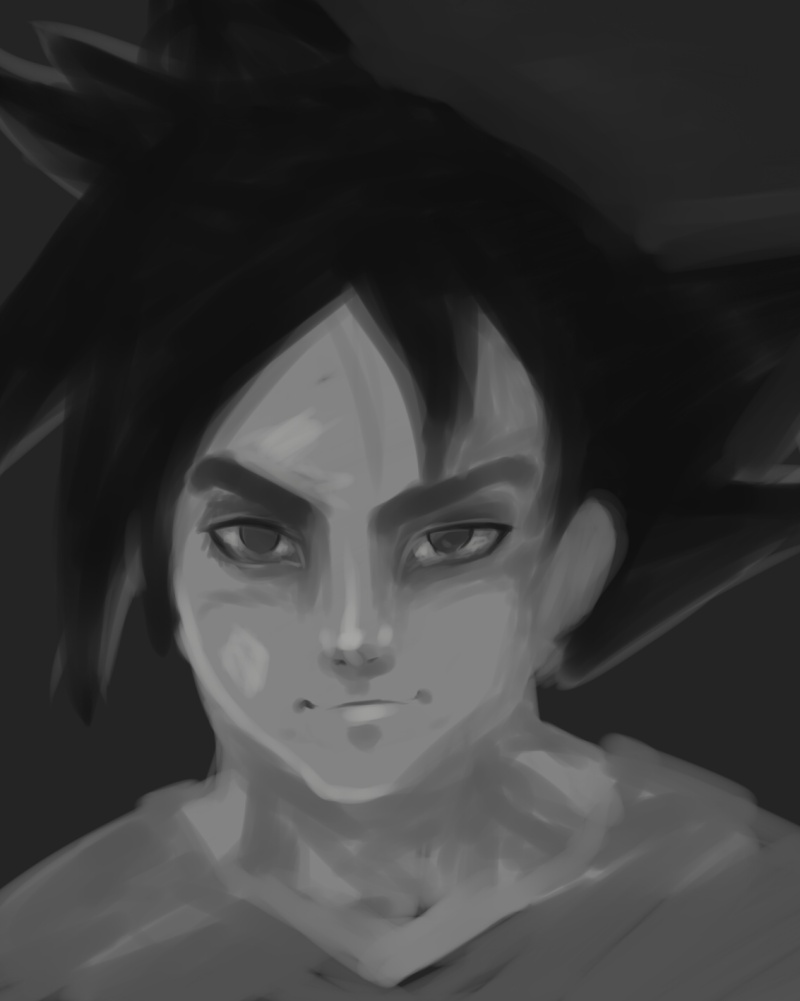 Tuto : digital art with Paint Tool Sai and Photoshop by[Dexteria] - Page 2 Goku210