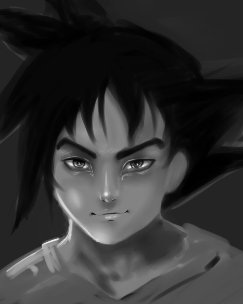 Tuto : digital art with Paint Tool Sai and Photoshop by[Dexteria] - Page 2 Goku310