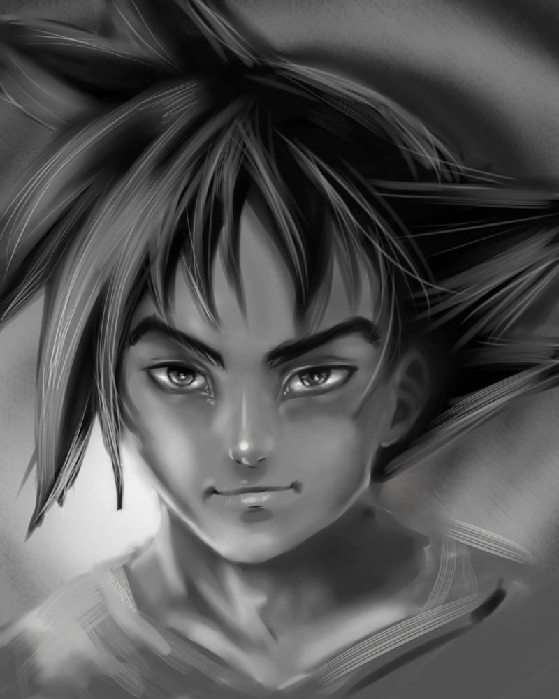 Tuto : digital art with Paint Tool Sai and Photoshop by[Dexteria] - Page 2 Goku410