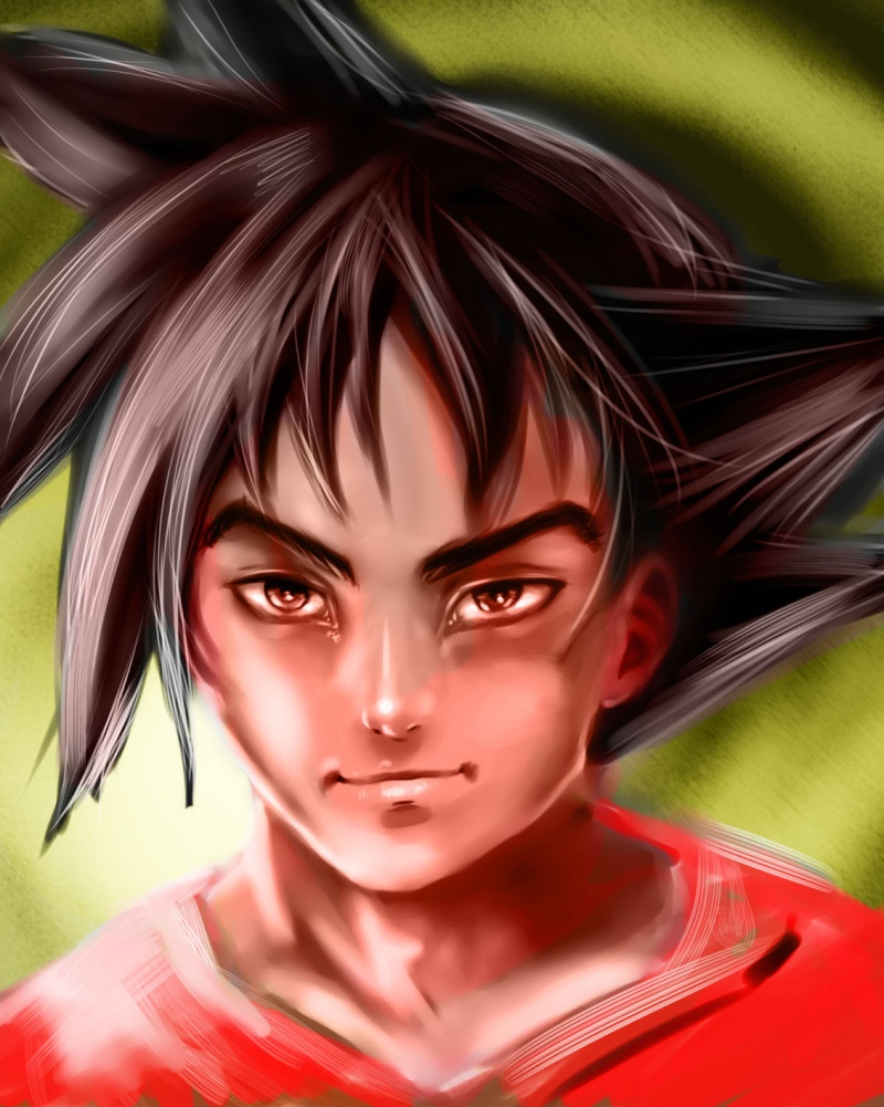 Tuto : digital art with Paint Tool Sai and Photoshop by[Dexteria] Goku510