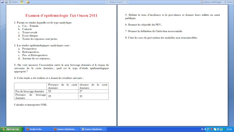Examen d'épidémiologie TiziOuzou 2011 Image110