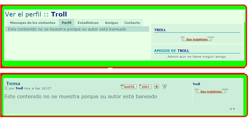 Ocultar información y mensajes de usuarios baneados Result11