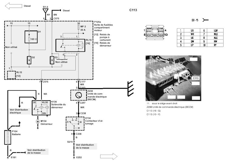 demarrage range rover (p38) impossible a la clef de contact Depann10